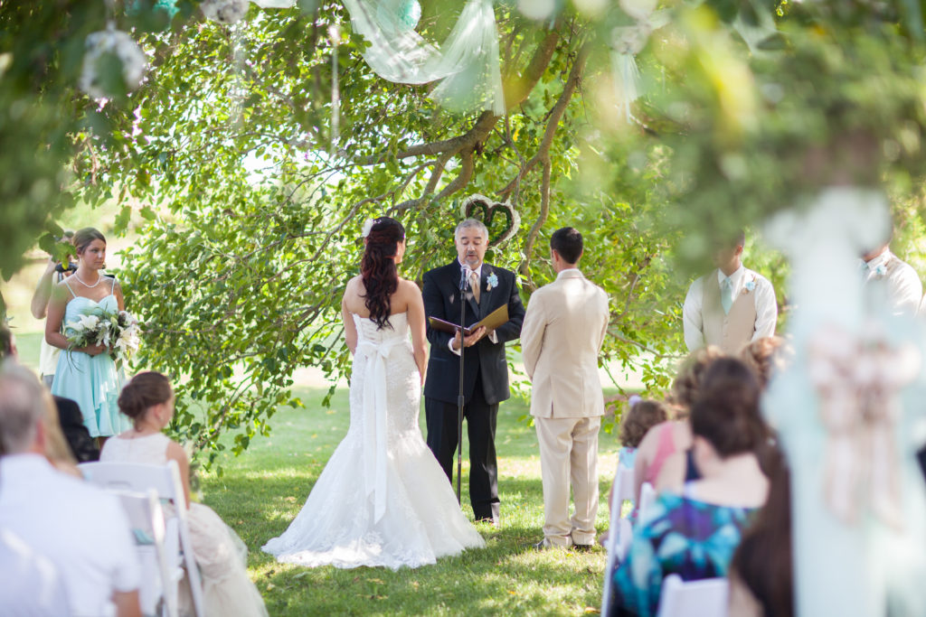 Outdoor Lake Country Wedding